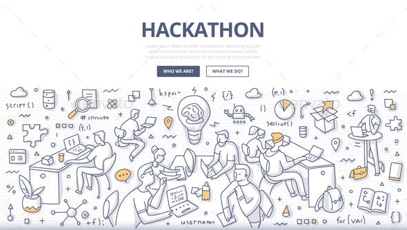 Hackathon Doodle Concept - Technology Conceptual