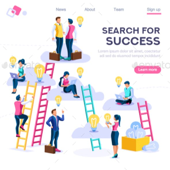 Joint Idea Search Icon Vector
