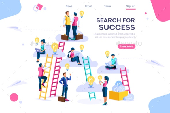 Joint Idea Search Icon Vector - Concepts Business