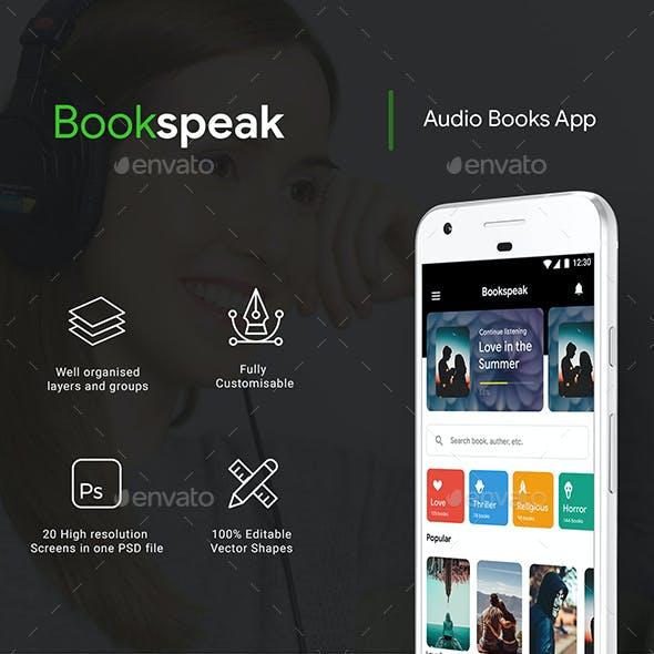 Audio Book App UI Kit | BookSpeak