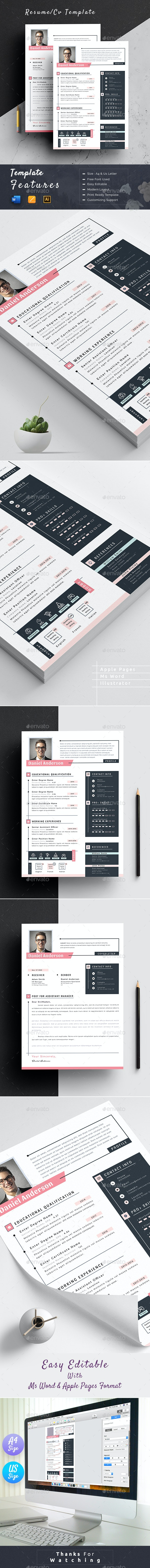 Resume Cv Template Word Apple Pages - Resumes Stationery