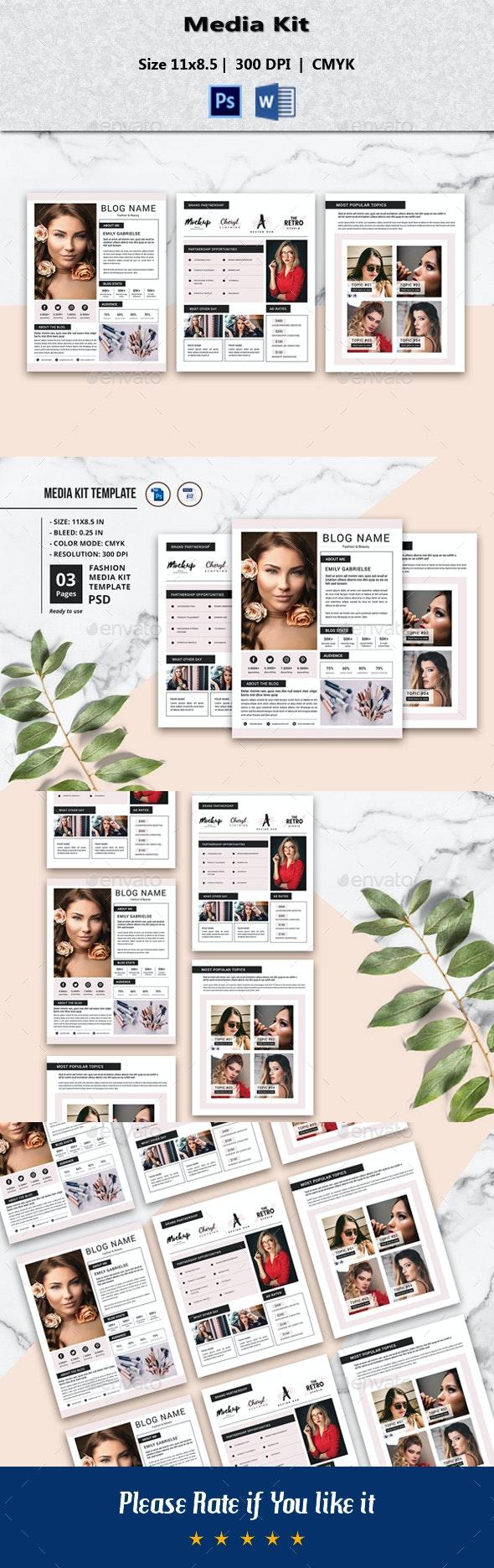 Media Kit Template V02 - Flyers Print Templates