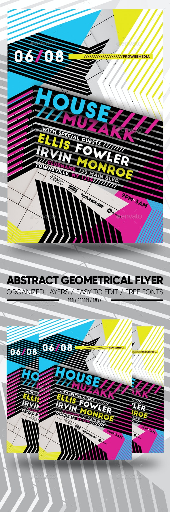 Abstract Geometrical Flyer - Clubs & Parties Events