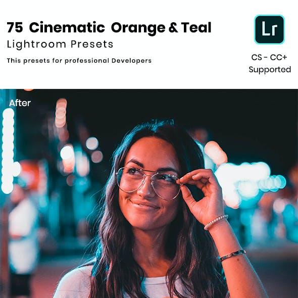 75 Cinematic Orange & Teal Lightroom Presets