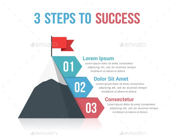 3 Steps to Success - Infographics