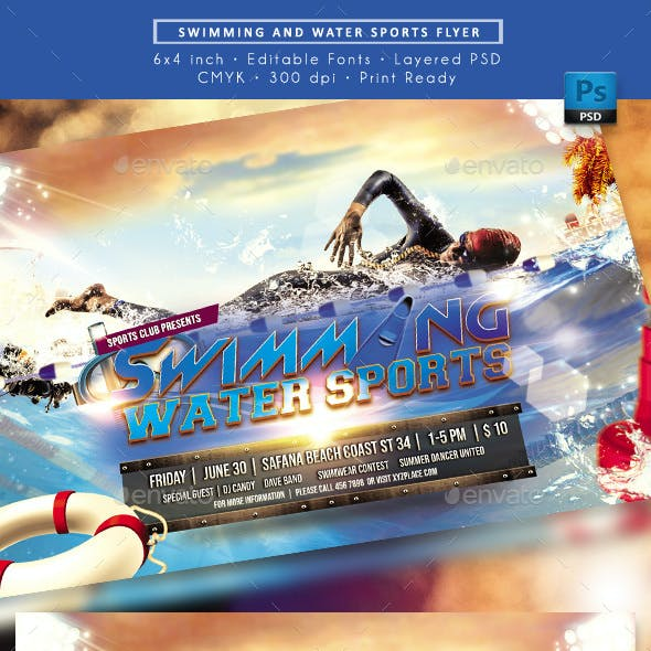 Swimming Water Sport Event Flyer