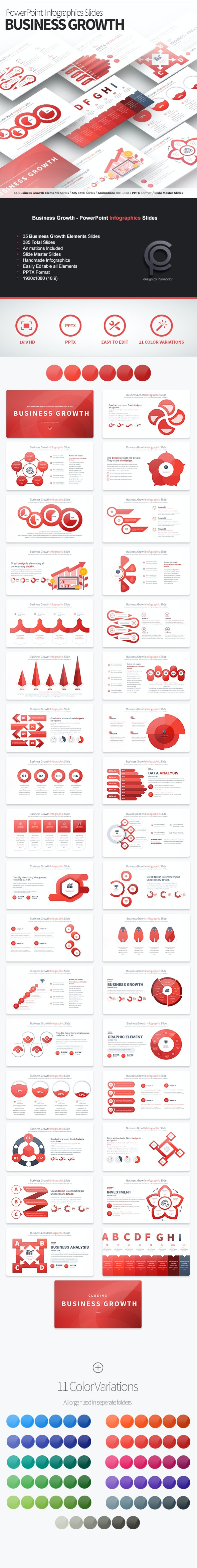 Business Growth - PowerPoint Infographics Slides - Business PowerPoint Templates