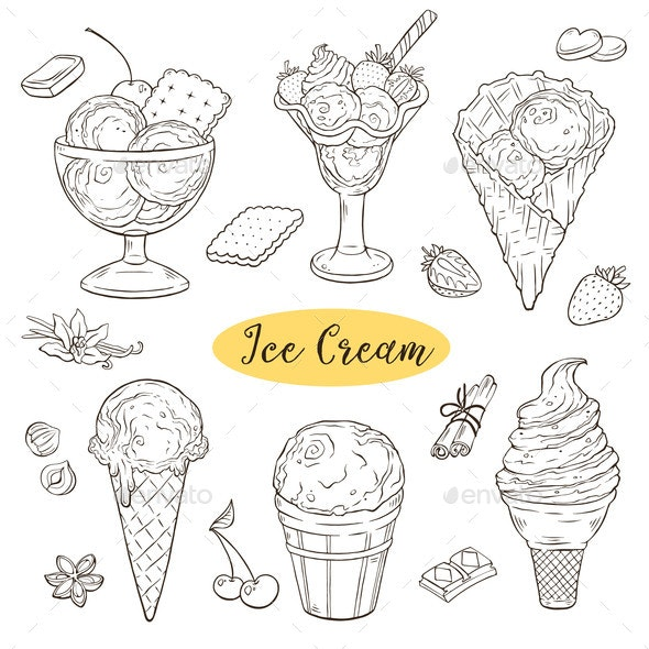 Ice Cream Collection - Food Objects