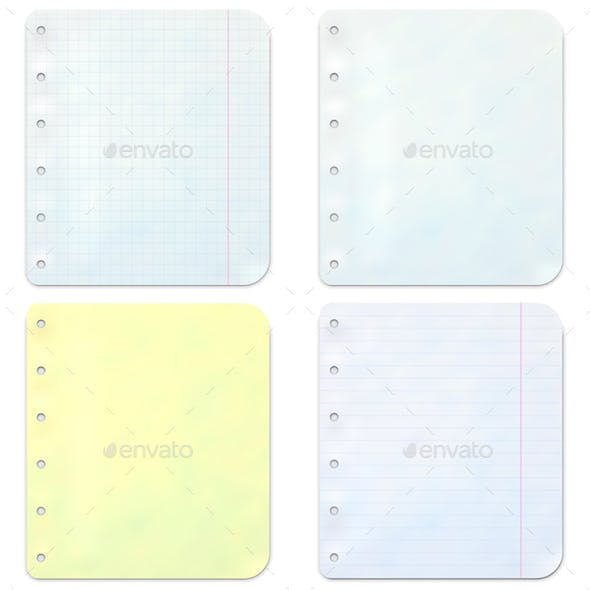 Vector Notebook Sheets