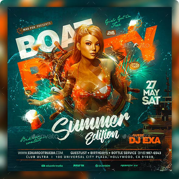 Boat Party Summer Edition Flyer
