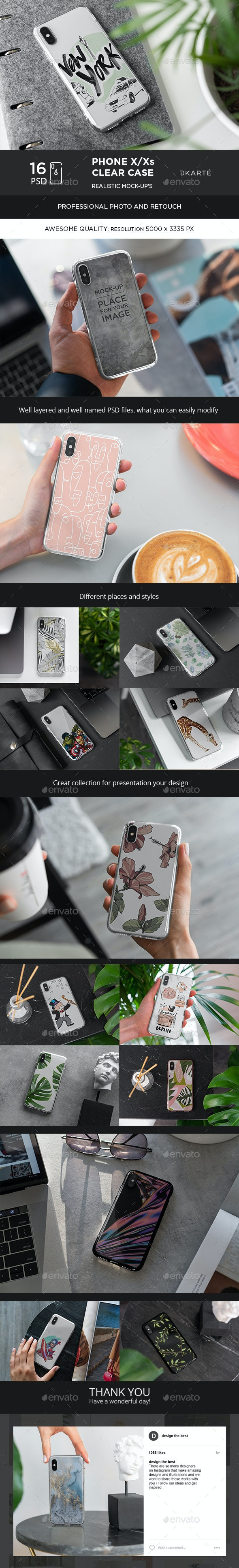 Phone X Clear Case Mock-Up - Mobile Displays