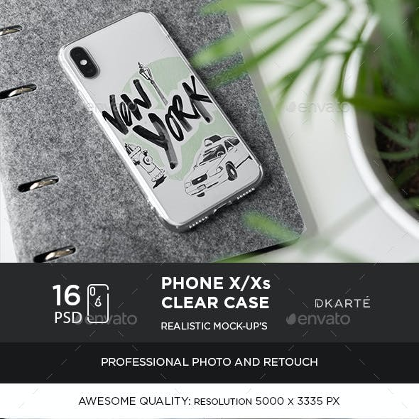 Phone X Clear Case Mock-Up