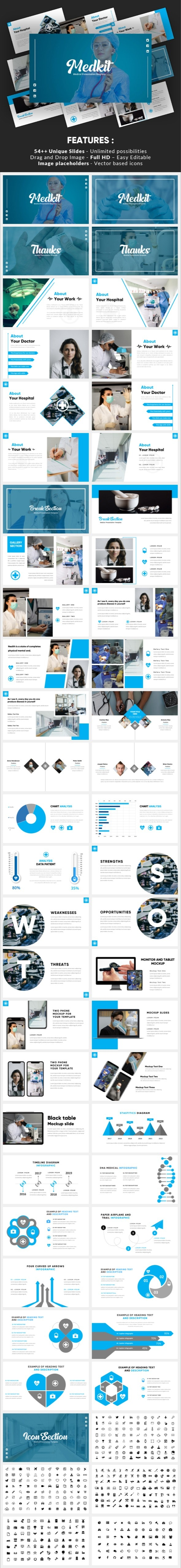 Medkit - Medical Treatment Powerpoint Template - Miscellaneous PowerPoint Templates