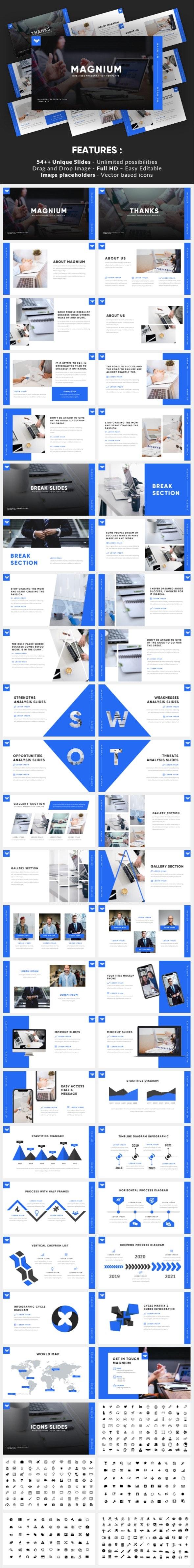 Magnium - Elegant Business Google Slides Template - Google Slides Presentation Templates