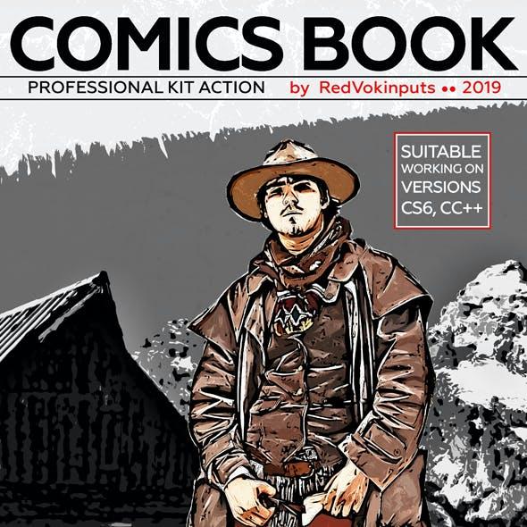 Comic Action Photoshop Graphics, Designs & Templates