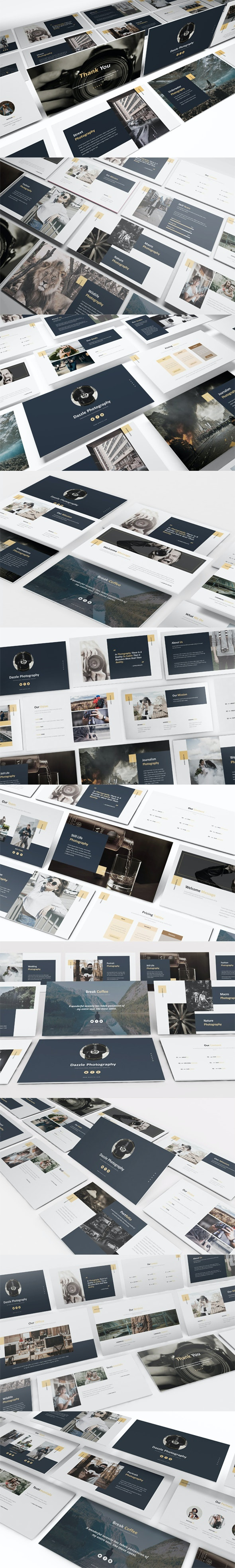 Dazzle Photography Keynote Template - Keynote Templates Presentation Templates