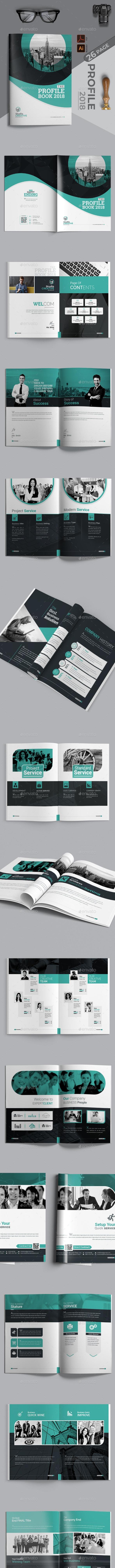 Profile Book - Magazines Print Templates