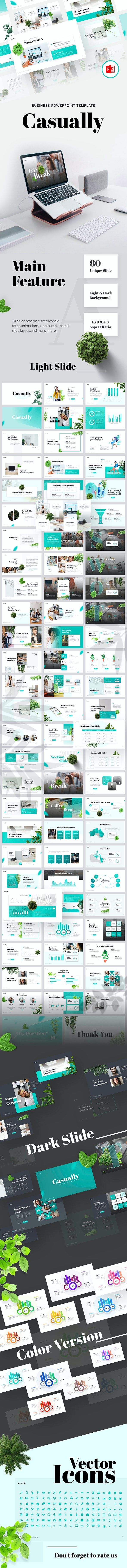 Casually - Multipurpose Business PowerPoint Template - PowerPoint Templates Presentation Templates