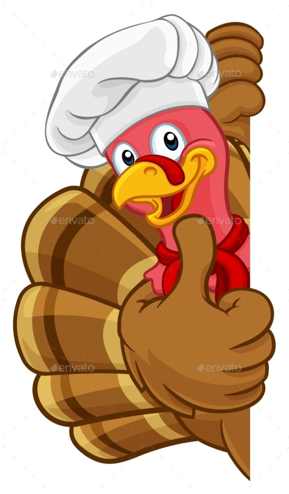 Christmas Cartoon Images.Turkey Chef Thanksgiving Or Christmas Cartoon