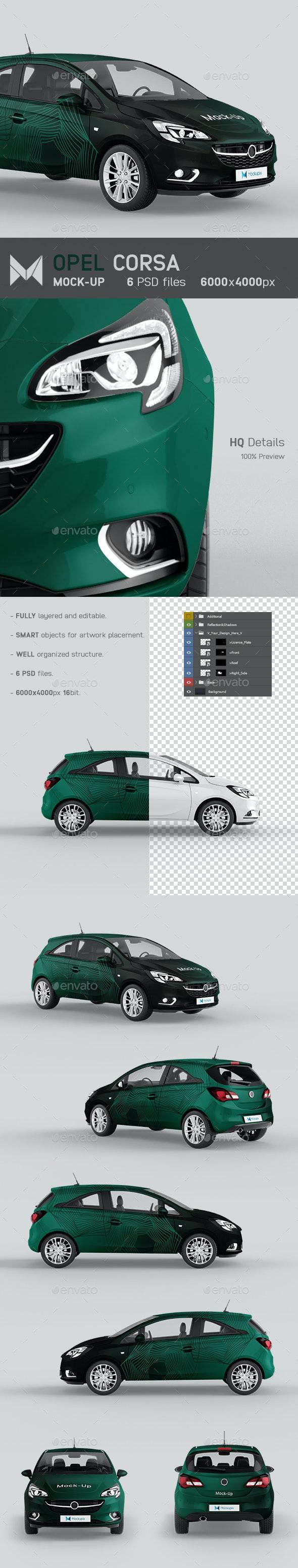 Opel Corsa Car Mockup - Vehicle Wraps Print
