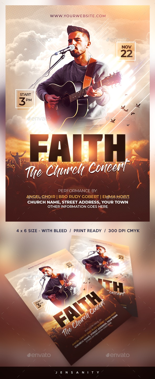 Church Concert Flyer - Church Flyers