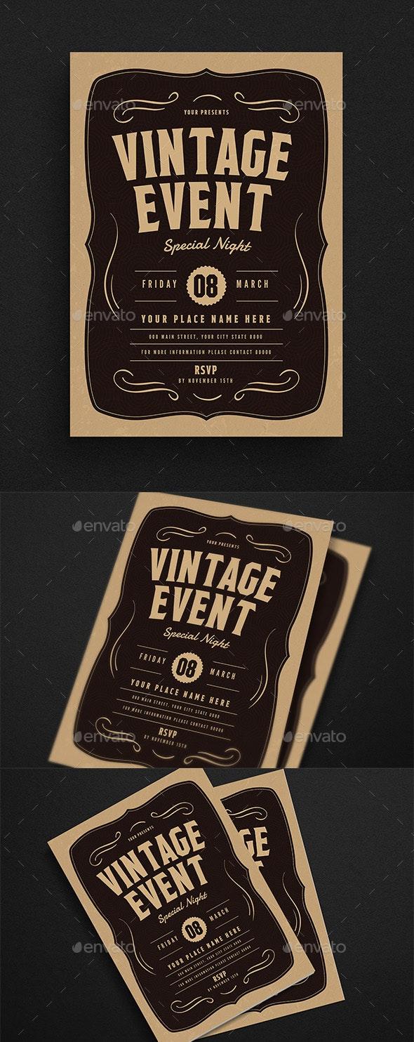 Vintage Event Flyer - Events Flyers
