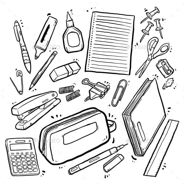 Doodle Stationery - Man-made Objects Objects
