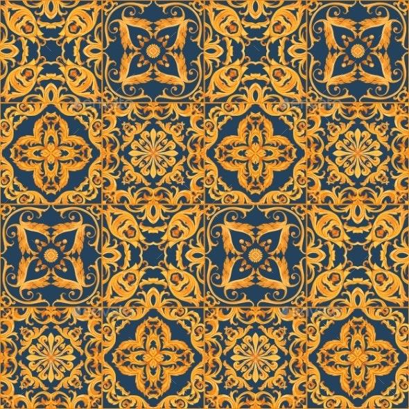 Golden Baroque Rich Luxury Pattern - Patterns Backgrounds