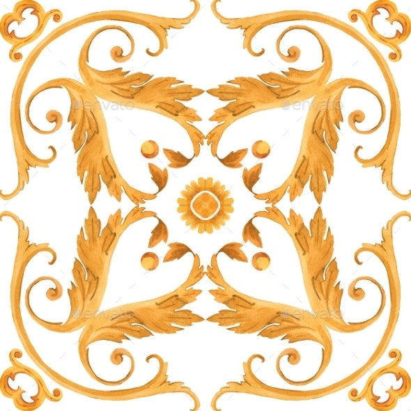 Golden Baroque Rich Luxury Pattern - Miscellaneous Illustrations