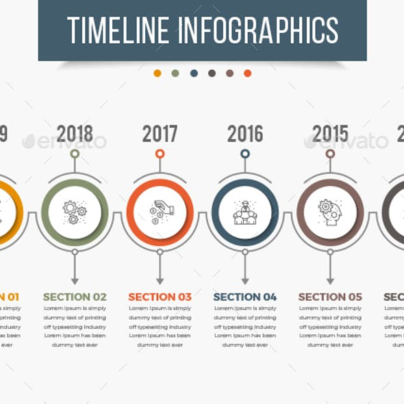 Timeline InDesign Graphics, Designs & Templates
