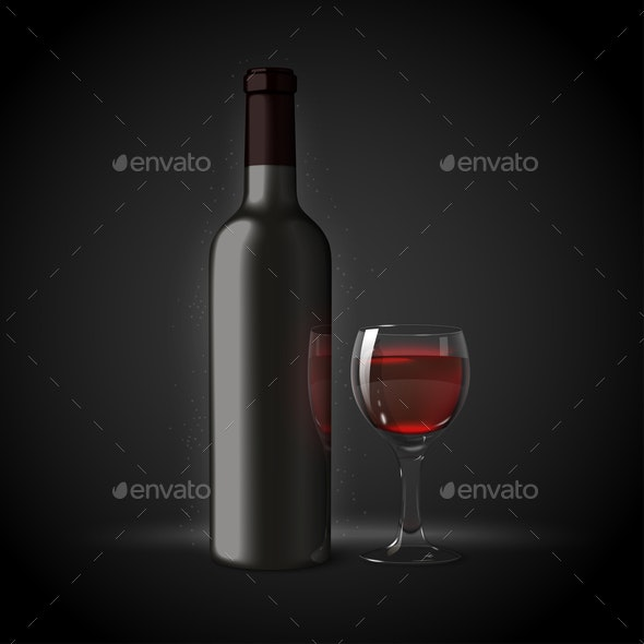Vector Wine - Food Objects