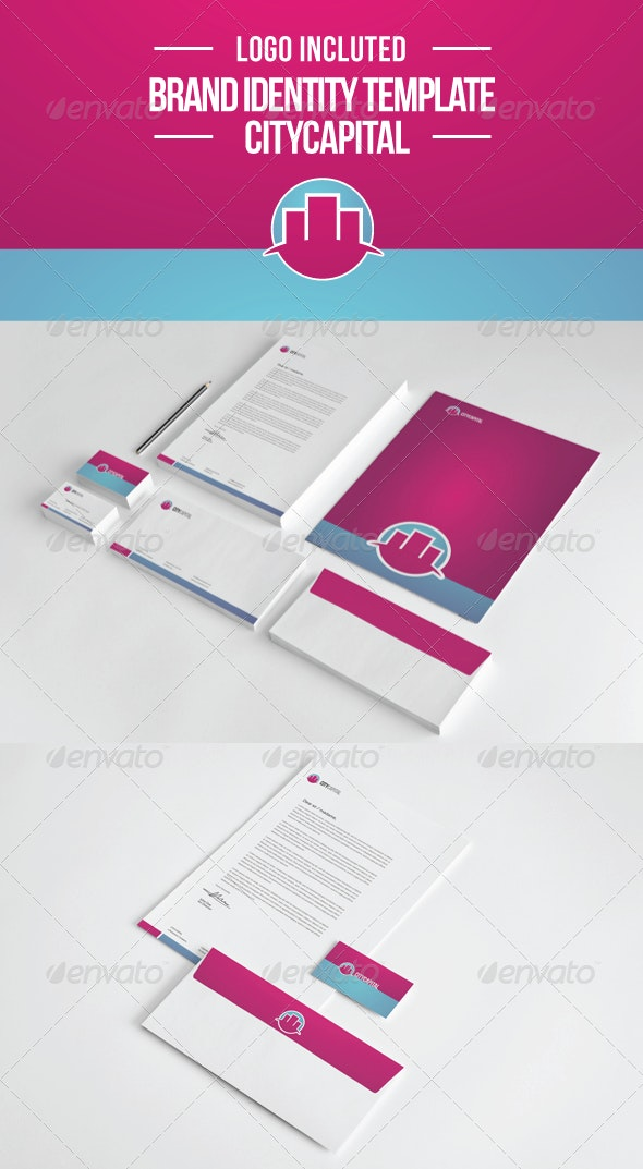 City Capital Brand Template - Stationery Print Templates