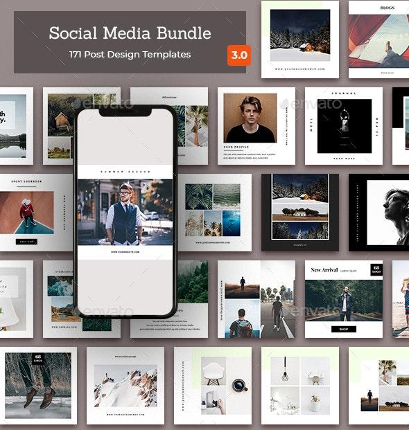 Social Media Bundle - Social Media Web Elements