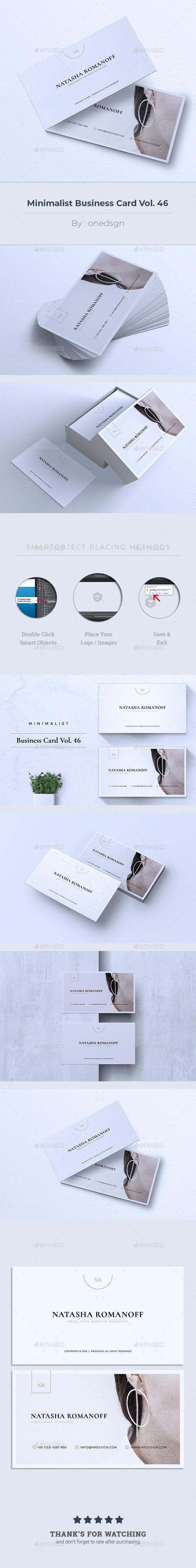 Minimalist Business Card Vol. 46 - Business Cards Print Templates