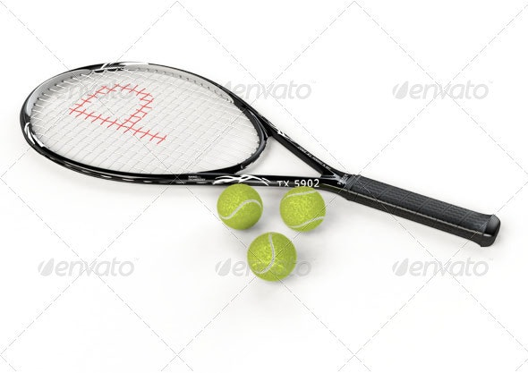 Tennis Rocket - Miscellaneous 3D Renders