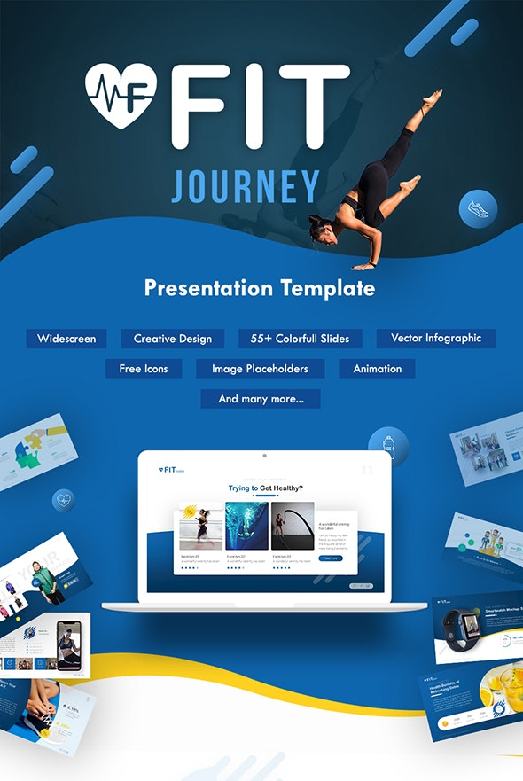 Fit Journey - Sporty Keynote Template - Keynote Templates Presentation Templates