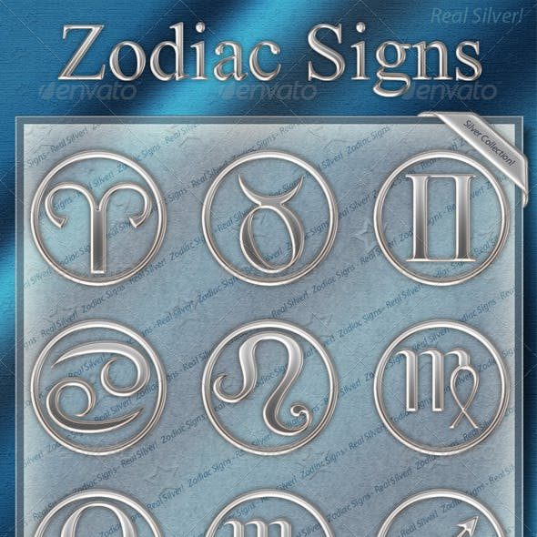 Zodiac Signs - Silver Collection