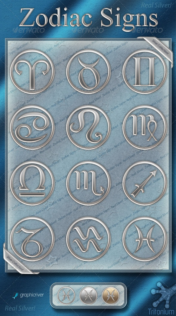 Zodiac Signs - Silver Collection - Miscellaneous Icons