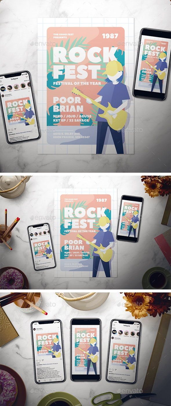 Indie Music Flyer Set - Concerts Events