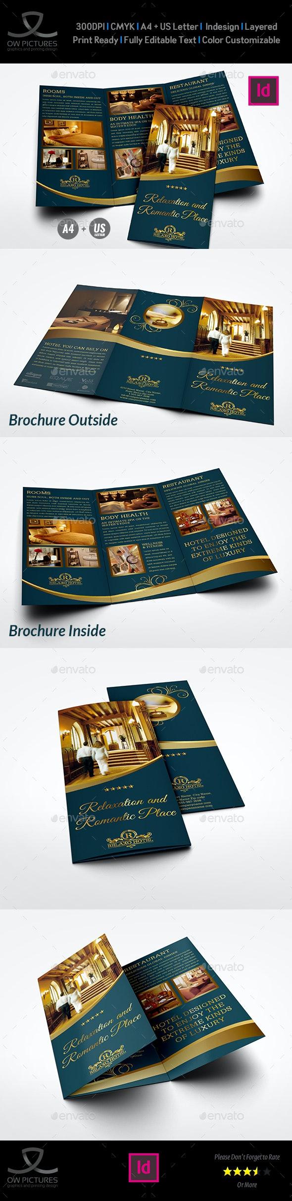 Hotel and Motel Tri-Fold Brochure Template Vol.3 - Brochures Print Templates