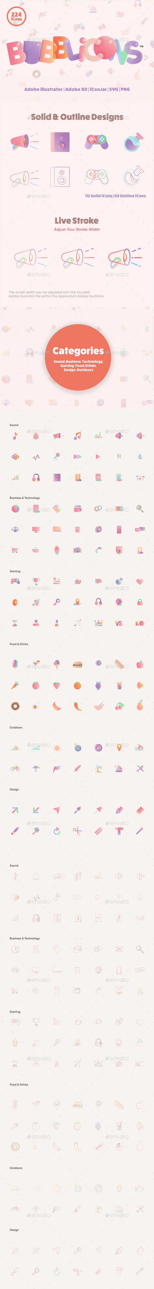 BUBBLiCONS - Icons