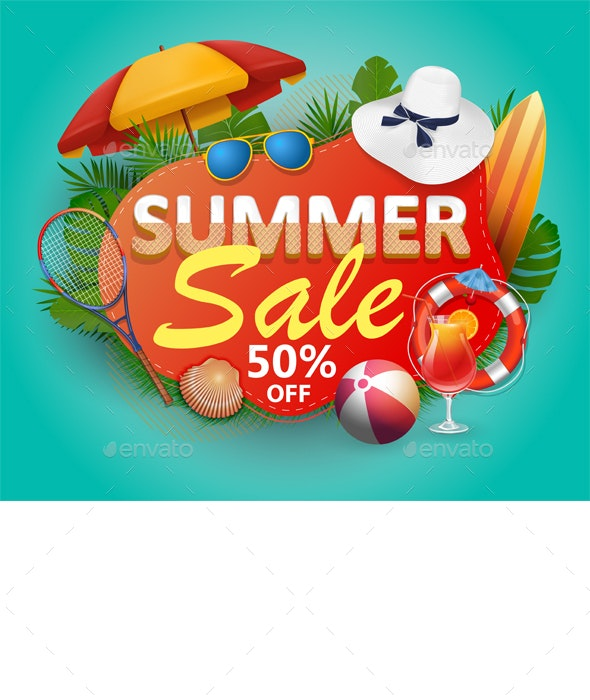 Summer Sale Banner - Retail Commercial / Shopping