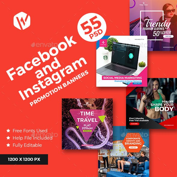 55 Facebook Multipurpose Banners