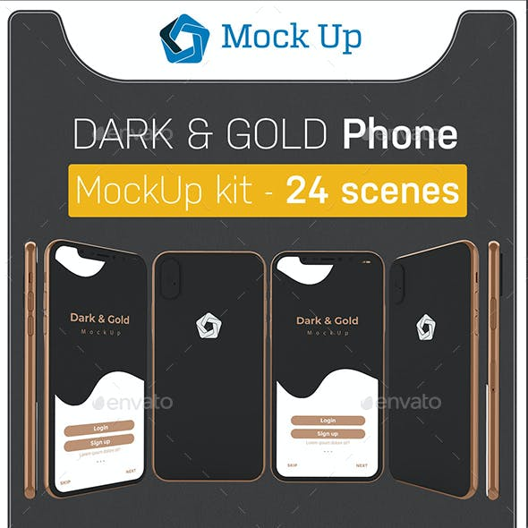 Dark & Gold Phone XS Kit
