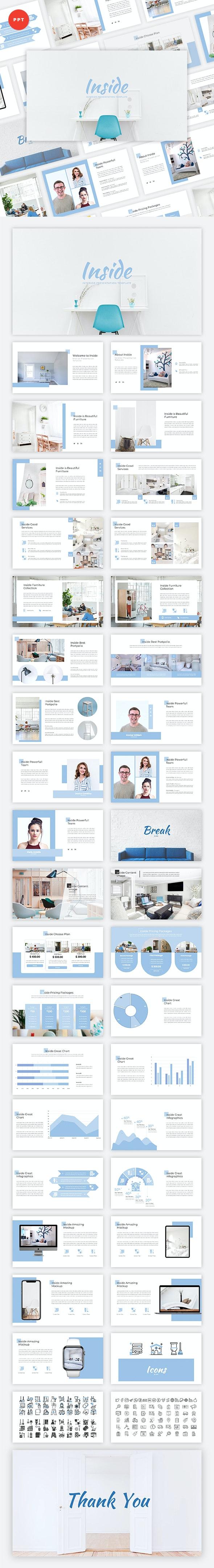 Inside - Interior PowerPoint Template - Creative PowerPoint Templates
