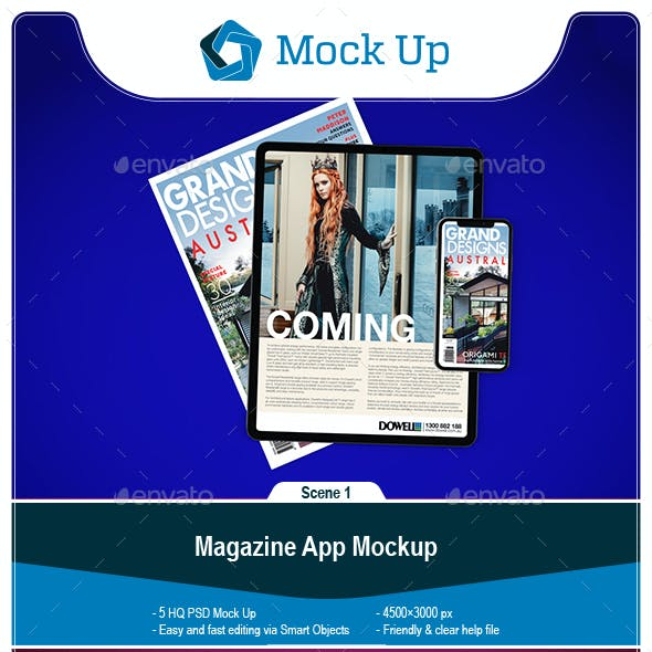 Magazine App Mockup