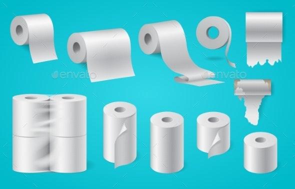 Realistic Paper Roll Set - Miscellaneous Vectors