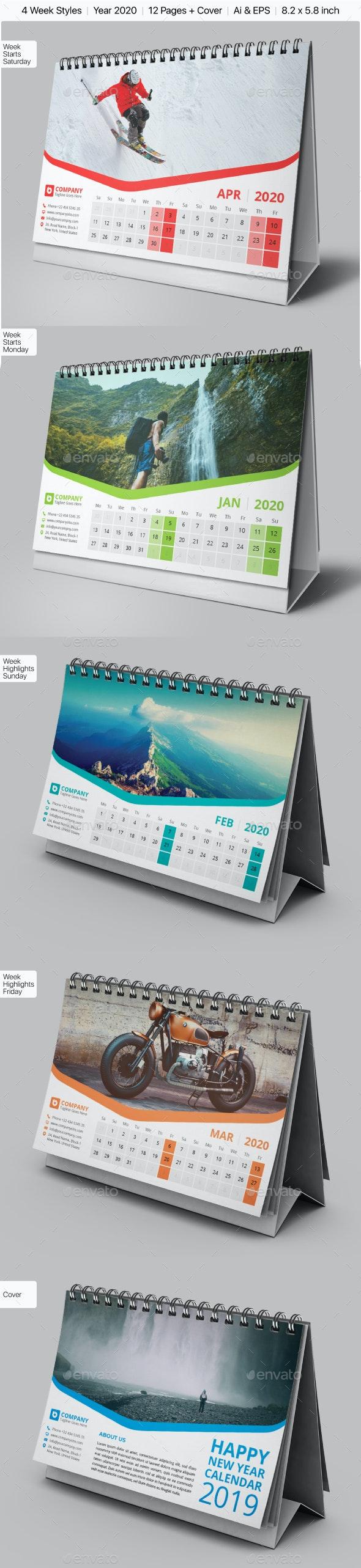 Desk Calendar 2020 - Calendars Stationery