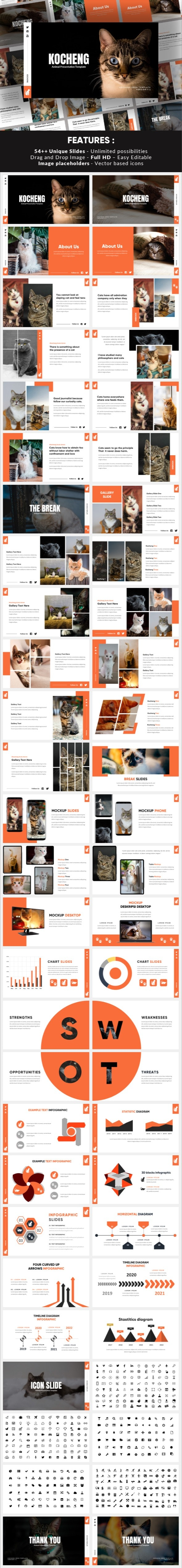 Kocheng - Cat Animal Powerpoint Template - Miscellaneous PowerPoint Templates