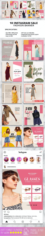 Instagram Fashion Banner #20 - Social Media Web Elements
